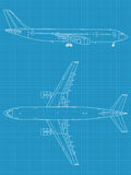 samolotowy cywilny nowożytny royalty ilustracja