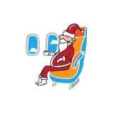 Samolotowy kabinowy pasażer Santa Zdjęcia Stock