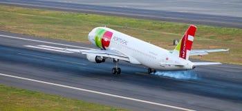 Samolotowy lądowanie zdjęcia royalty free