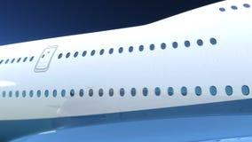 Samolotowy latanie nad chmurami ilustracji