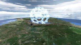 Samolotowy latanie w wodnego atomu kształt zdjęcie wideo