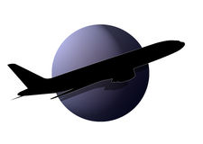 samolotowy logo Obrazy Royalty Free