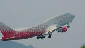 Samolotowy odjazd od Phuket zbiory