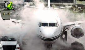 Samolotowy odladzanie od wiadra horyzontalnego Obraz Stock