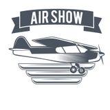 Samolotowy rocznik odizolowywająca etykietka wektoru ilustracja Obrazy Royalty Free