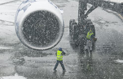 Samolotowy silnik Zdjęcia Royalty Free