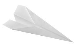 samolotowy tła błękit odizolowywający papierowy biel Zdjęcia Royalty Free