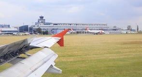 Samolotowy terminal w lotnisku Zdjęcie Stock