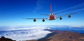 Samolotowy transport Dżetowy lotniczy samolot Przygoda, reklama obrazy stock