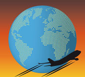samolotowy świat Zdjęcia Royalty Free