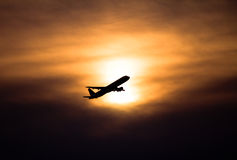samolotowy zmierzch Zdjęcie Stock