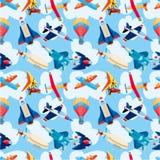 Samolotu bezszwowy wzór Zdjęcie Royalty Free