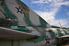 samolotu blisko szczegółu wojskowy przestarzały Fotografia Royalty Free