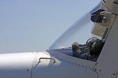 samolotu cessna zakończenie zaświeca zaświecać Obrazy Royalty Free