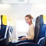 samolotu deskowi kobiety potomstwa Zdjęcie Royalty Free
