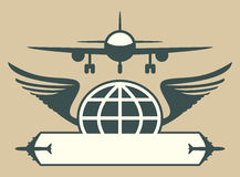 Samolotu emblemat Zdjęcia Stock