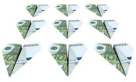 samolotu euro latania siła Zdjęcia Stock