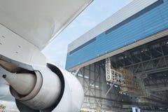 Samolotu hangar Zdjęcia Royalty Free