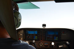 Samolotu kokpit Obraz Royalty Free