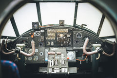 Samolotu kokpit Pulpit operatora aircraf Fotografia Stock