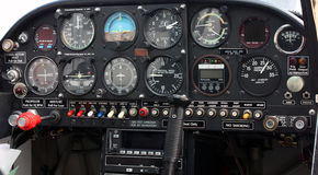 Samolotu kokpitu instrumentu panel Obraz Royalty Free