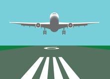 samolotu lądowanie Ilustracji