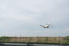 Samolotu lądowanie Zdjęcia Royalty Free