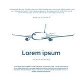 Samolotu loga koloru ikony Płaski wektor Obraz Stock