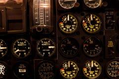 Samolotu lotnictwa wymierniki z backlighting zbliżeniem Obraz Stock