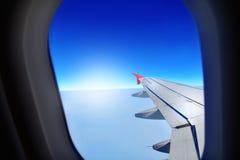 Samolotu okno samolot Obraz Stock