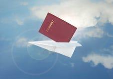 samolotu papier Fotografia Royalty Free