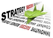 samolotu papierowy rozwiązań strategii sukces Obrazy Royalty Free