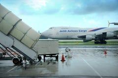 Samolotu parking przy Changi lotniskiem Fotografia Stock