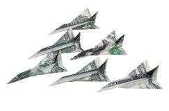 samolotu pieniądze Fotografia Royalty Free