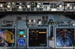 Samolotu pulpit operatora Zdjęcia Royalty Free