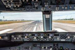 Samolotu pulpit operatora Obraz Royalty Free