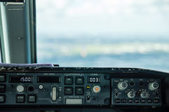 Samolotu pulpit operatora Fotografia Stock