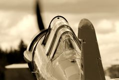 samolotu rocznik myśliwski stażowy Zdjęcie Royalty Free