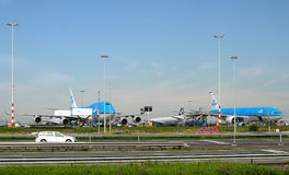 Samolotu Royal Dutch linie lotnicze KLM Obraz Royalty Free