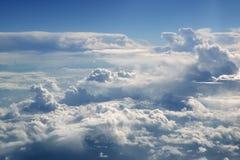 samolotu samolotowy niebieskiego nieba widok Zdjęcie Royalty Free