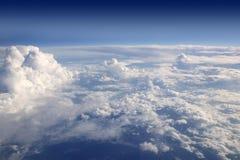 samolotu samolotowy niebieskiego nieba widok Fotografia Royalty Free
