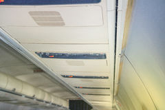 Samolotu siedzenia kontrola obraz royalty free