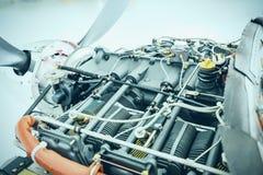 Samolotu silnika szczegół Kawałek wyposażenie samolotu engin Zdjęcia Royalty Free