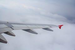 Samolotu skrzydło w powietrzu Obraz Royalty Free