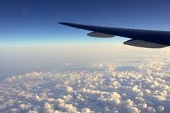 samolotu skrzydło fotografia royalty free