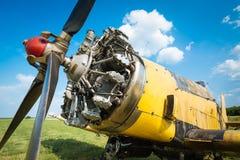 Samolotu stary silnik Zdjęcia Stock