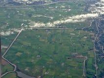 Samolotu widok od okno fotografia stock