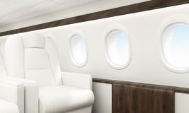 Samolotu wnętrza niebo Fotografia Royalty Free