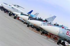 Samolotu wojskowego rząd zdjęcie stock