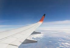samolotu wysokości błękitny lota wysoki nieb skrzydło Obraz Stock
